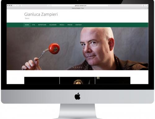 Website für italienischen Opernsänger Gianluca Zampieri