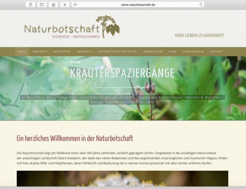 Neue Website für die Naturbotschaft Bodensee-Oberschwaben