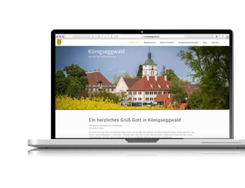 Neue Website für Königseggwald