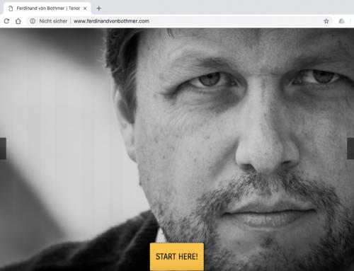 Website für Opernsänger Ferdinand von Bothmer