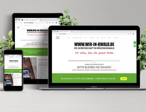 NON PROFIT Website & Flyer für Corona Nachbarschaftshilfe Königseggwald