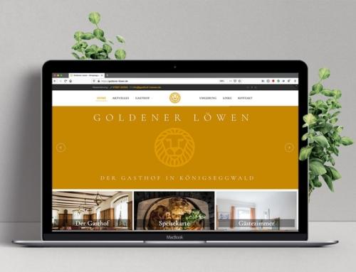 Website für Gasthof Goldener Löwen Königseggwald
